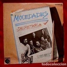 Discos de vinilo: MOCEDADES (SINGLE 1975) SECRETARIA - CHARANGO - JUAN CARLOS CALDERON - URANGA. Lote 82203192