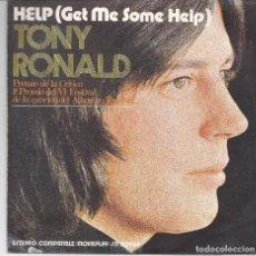 Discos de vinilo: TONY RONALD - HELP. Lote 82204972