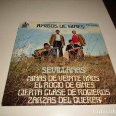 Disques de vinyle: DISCO CHICO 7 PULGADAS AMIGOS DE GINES SEVILLANAS NIÑAS DE VEINTE AÑOS ARM-4. Lote 82213524