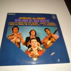 Disques de vinyle: DISCO CHICO 7 PULGADAS AMIGOS DE GINES SEVILLANAS DEL BUEN ROCIERO VOL 1 CARA Y CRUZ DE UN AM ARM-4. Lote 82214092
