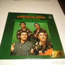 Disques de vinyle: DISCO CHICO 7 PULGADAS AMIGOS DE GINES SEVILLANAS CON SABOR ANDALUZ VOL 1 ARM-4. Lote 82214292