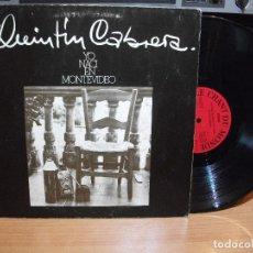 Discos de vinilo: LP - QUINTIN CABRERA - YO NACI EN MONTEVIDEO (SPAIN, LE CHANT DU MONDE 1975, PORTADA DOBLE) PEPETO. Lote 82214880