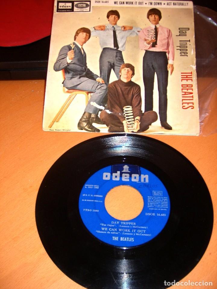 THE BEATLES DAY TRIPPER DISCO SINGLE (Música - Discos - Singles Vinilo - Pop - Rock Internacional de los 50 y 60)