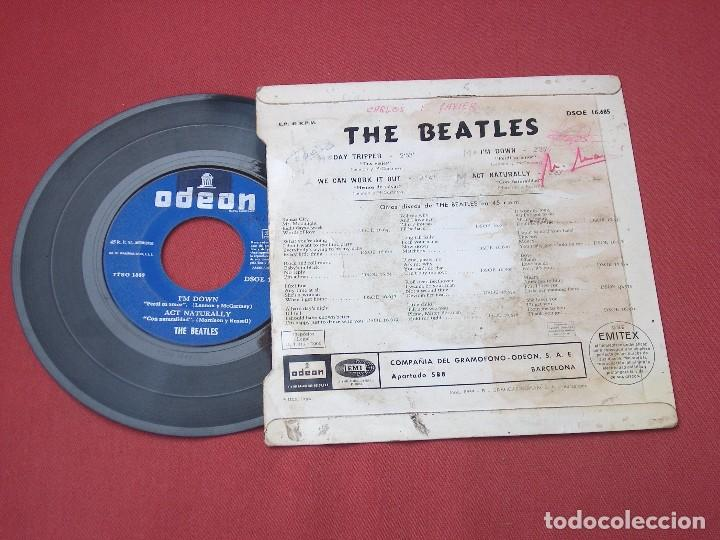 Discos de vinilo: THE BEATLES DAY TRIPPER DISCO SINGLE - Foto 3 - 82217132