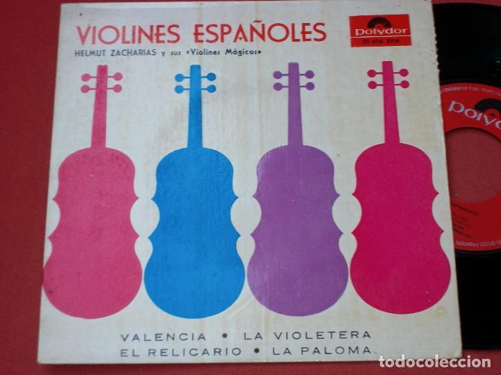 VIOLINES ESPAÑOLES: disco antiguo 1958 segunda mano