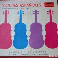Discos de vinilo: VIOLINES ESPAÑOLES: DISCO ANTIGUO 1958. Lote 82218860