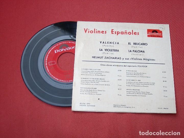 Discos de vinilo: VIOLINES ESPAÑOLES: disco antiguo 1958 - Foto 2 - 82218860