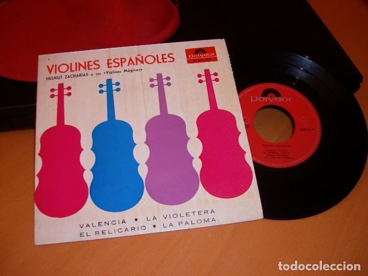 Discos de vinilo: VIOLINES ESPAÑOLES: disco antiguo 1958 - Foto 3 - 82218860
