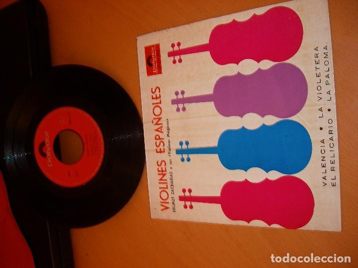 Discos de vinilo: VIOLINES ESPAÑOLES: disco antiguo 1958 - Foto 4 - 82218860