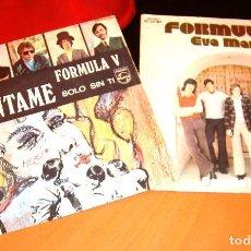 Discos de vinilo: FORMULA V: DOS SINGLES: CUENTAME Y EVA MARIA. Lote 82221240