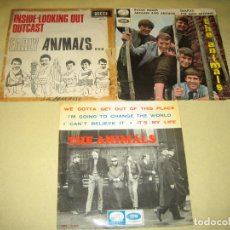 Discos de vinilo: LOTE DE 3 SINGLES - THE ANIMALS . Lote 82226600