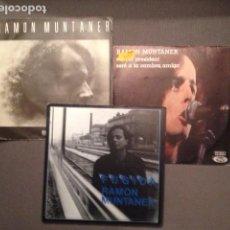 Discos de vinilo: RAMON MUNTANER LOTE DE 3 DISCOS SG/EP AÑOS 70, NOVA CANÇÓ. Lote 82269068