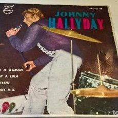 Discos de vinilo: MUSICA SINGLE JOHNNY HALLYDAY EN NUEVA YORK BE BOP A LULA 1962 MUY NUEVO Y MUY DIFICIL. Lote 82301764