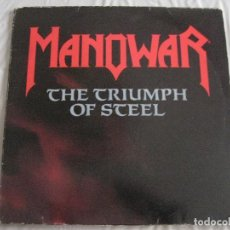 Discos de vinilo: MANOWAR, THE TRIUMPH OF STEEL, LP DOBLE VINILO. Lote 82342236