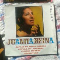 Discos de vinilo: SINGLE JUANITA REINA. Lote 82345039