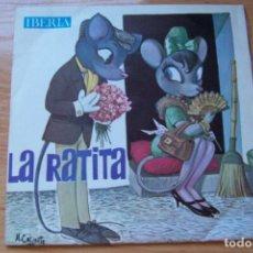 Discos de vinilo: LA RATITA PRESUMIDA. GRABADO CON ACTORES DE RADIO MADRID. SINGLE IBERIA AÑO 1964. Lote 82352220