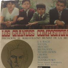 Discos de vinilo: LOS GRANDES COMPOSITORES-INICIACION AL MARAVILLOSO MUNDO DE LA MUSICA-LIBRO Y 8 FLEXIDISC-1964. Lote 82353787