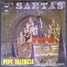 Dischi in vinile: SAETAS. COMO TE LLORA SEVILLA, ANGUSTIAS, EL VIERNES DE MADRUGÁ, LA DE LA CALLE REAL. PEPE VALENCIA. Lote 82445288