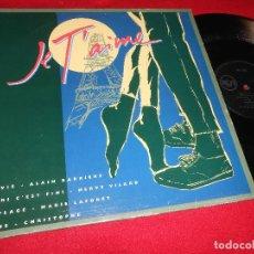 Discos de vinilo: JE T'AIME ALAIN BARRIERE/HERVE VILARD/MARIE LAFORET/CHRISTOPHE MX 12'' 1992 PROMO SPAIN. Lote 82471396