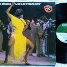 Discos de vinilo: MILLIE JACKSON - '' LIVE AND OUTRAGEOUS '' LP ORIGINAL UK 1982. Lote 28406706