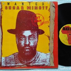 Discos de vinilo: SUGAR MINOTT - '' HIT MAN '' LP ORIGINAL JAMAICA 1992. Lote 34729687