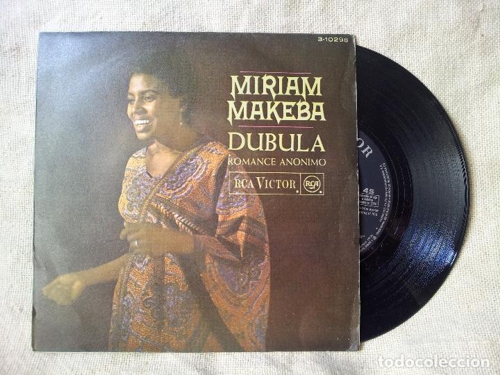 MIRIAM MAKEBA - ROMANCE ANÓNIMO / DUBULA SINGLE DE VINILO DE RCA 1968 (REF-1AC) (Música - Discos - Singles Vinilo - Funk, Soul y Black Music)