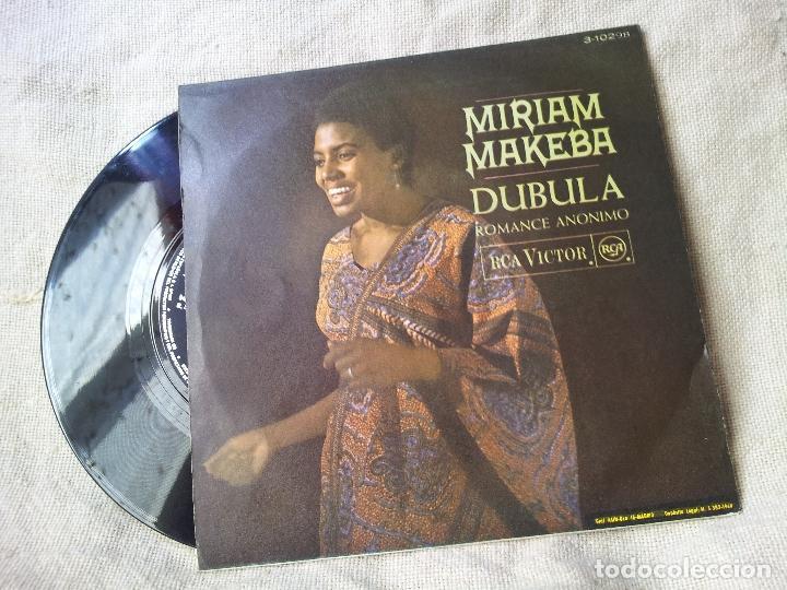 Discos de vinilo: MIRIAM MAKEBA - ROMANCE ANÓNIMO / DUBULA SINGLE DE VINILO DE RCA 1968 (REF-1AC) - Foto 2 - 82498188