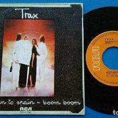 Discos de vinilo: TRAX - NEVER BEEN TO SPAIN + BOOM BOOM - SINGLE VINILO - RCA 1979. Lote 82499312