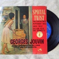 Discos de vinilo: GEORGES JOUVIN SU TROMPETA DE ORO Y SU ORQUESTA (EP 1962) - SPECIAL TWIST (REF-1AC). Lote 82499476