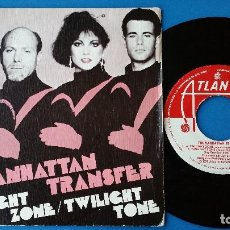 Discos de vinilo: MANHATTAN TRANSFER - TWILIGHT ZONE + BODY AND SOUL - SINGLE VINILO - HISPAVOX 1980. Lote 82501088
