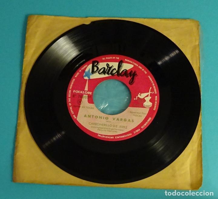 CARBONERILLO DE JEREZ. NINA BITORIA. SORTIJA DE ORO.ANTONIO VARGAS. BARCLAY (Música - Discos de Vinilo - EPs - Flamenco, Canción española y Cuplé)