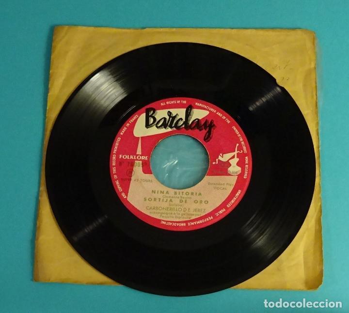 Discos de vinilo: CARBONERILLO DE JEREZ. NINA BITORIA. SORTIJA DE ORO.ANTONIO VARGAS. BARCLAY - Foto 2 - 82503052
