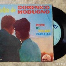 Discos de vinilo: ÉXITOS DE DOMENICO MODUGNO. EP FONIT IB-45-6020. ESPAÑA 1960. PIOVE. IO. VOLARE. FARFALLE (REF-1AC). Lote 82519812
