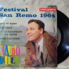 Discos de vinilo: CLAUDIO VILLA PASSO SU PASSO + 3- EP 1964 VERGARA 35.6.032C(REF-1AC). Lote 82520160