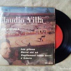 Discos de vinilo: CLAUDIO VILLA - EN ESPAÑA - LES GITANS + 3 EP`1959(REF-1AC). Lote 82520248