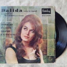 Discos de vinilo: DALIDA CANTA EN ESPAÑOL. HABLAME DEL AMOR.NO ES EL ADIOS.AQUELLA ROSA(SPANISH HARLEM) Y + (REF-1AC) . Lote 82535096