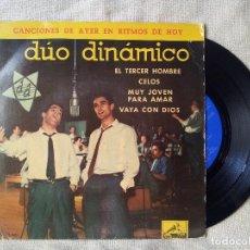 Discos de vinilo: DUO DINAMICO - EL TERCER HOMBRE - CELOS - MUY JOVEN PARA AMAR - VAYA CON DIOS - EP 1961 (REF-1AC) . Lote 82550336