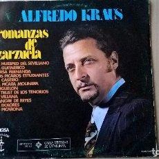 Discos de vinilo: MUSICA LP ALFREDO KRAUS ROMANZAS DE ZARZUELA . Lote 82618092