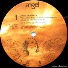 Discos de vinilo: CRISTINA ORTIZ (PIANO) - ALMA BRASILEIRA - LP ANGEL RECORDS 1974 USA (SIN PORTADA, SOLO DISCO) BPY. Lote 82636632