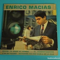 Discos de vinilo: ENRICO MACIAS. EL POROMPOPERO...PATHÉ. Lote 82661796
