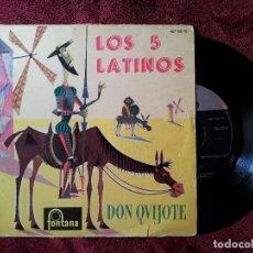 Discos de vinilo: LOS 5 LATINOS (DON QUIJOTE + 3) EP ESPAÑA 1960 (REF-1AC). Lote 82668440