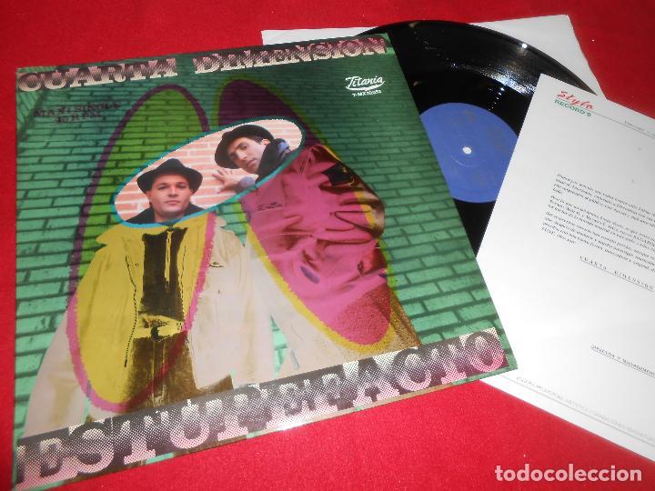 CUARTA DIMENSION ESTUPEFACTO VOCES/INSTRUMENTAL MX 12'' 1989 EDICION ESPAÑOLA SPAIN + HOJA PROMO (Música - Discos de Vinilo - Maxi Singles - Grupos Españoles de los 70 y 80)