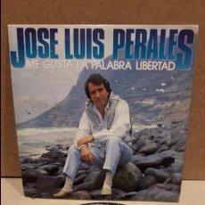 Discos de vinilo: JOSE LUIS PERALES. ME GUSTA LA PALABRA LIBERTAD. SINGLE-PROMO / CBS - 1987. 1 CARA. **/***. Lote 82721432