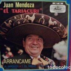 Discos de vinilo: JUAN MENDOZA EL TARIACURI, ARRANCAME / LA BANQUETA / Y ES VERDAD / CIELO DE DIOS, EP 1971. Lote 82740388