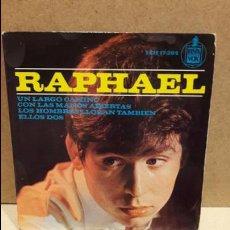 Discos de vinilo: RAPHAEL. LOS HOMBRES LLORAN TAMBIÉN. EP / HISPAVOX - 1964 / MBC. ***/***. Lote 82744100