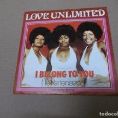 Discos de vinilo: LOVE UNLIMITED (SN) I BELONG TO YOU AÑO 1974. Lote 82770140