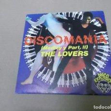 Discos de vinilo: THE LOVERS (SN) DISCOMANIA (MEDLEY) AÑO 1977 - PROMOCIONAL. Lote 82770292