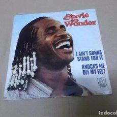 Discos de vinilo: STEVIE WONDER (SN) I AIN'T STAND FOR IT AÑO 1981. Lote 82771832