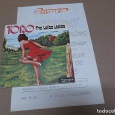 Discos de vinilo: THE LOLITA LADIES (SN) TORO AÑO 1976 – CON HOJA PROMOCIONAL. Lote 82786044