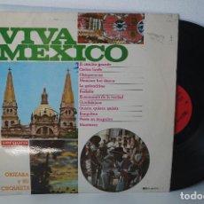 Discos de vinilo: LP - ORIZABA Y SUS ORQUESTA *VIVA MEXICO* (CIELITO LINDO, MEXICAN HAT DANCE, MONTERREY...) 1968. Lote 82839208